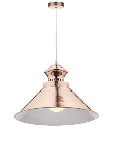Dauphine 1 Light Pendant Copper (Class 2 Double Insulated) BXDAU0164-17